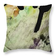 Buddha Ink Brush Calligraphy Throw Pillow by Peter v Quenter