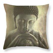 Buddha Throw Pillow by Madeleine Forsberg