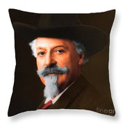 Buffalo Bill Cody 20130516 square Throw Pillow by Wingsdomain Art and Photography