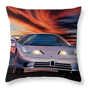 Bugatti Throw Pillow by Garry Walton