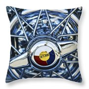 Buick Skylark Wheel Throw Pillow by Jill Reger