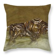 Bull Throw Pillow by Jack Zulli