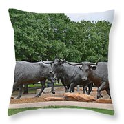 Bull Market Throw Pillow by Christine Till