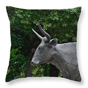 Bull Market Quadriptych 1 Of 4 Throw Pillow by Christine Till
