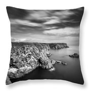 Bullers of Buchan Cliffs Throw Pillow by Dave Bowman