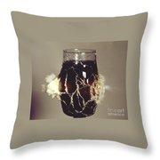Bullet Piercing Glass Of Soda Throw Pillow by Gary S. Settles