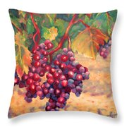 Bunch Of Grapes Throw Pillow by Carolyn Jarvis