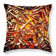 Bunch Of Screws 4 - Digital Effect Throw Pillow by Debbie Portwood