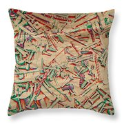 Bunch of Screws 5 - Digital effect  Throw Pillow by Debbie Portwood