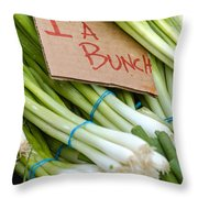 Bunches Of Onions Throw Pillow by Teri Virbickis