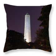 Bunker Hill Monument - Boston Throw Pillow by Joann Vitali