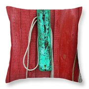 Buoys At Rockport Motif Number One Throw Pillow by Jon Holiday