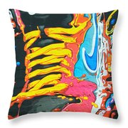 Burning To Do It In Portland Throw Pillow by David Bearden