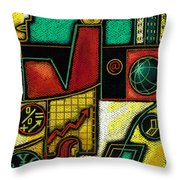 Business Throw Pillow by Leon Zernitsky