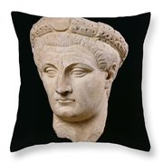Bust Of Emperor Claudius Throw Pillow by Anonymous