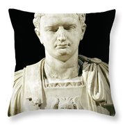 Bust Of Emperor Domitian Throw Pillow by Anonymous