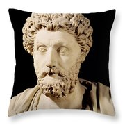 Bust Of Marcus Aurelius Throw Pillow by Anonymous