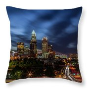 Busy Charlotte Night Throw Pillow by Chris Austin