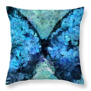 Butterfly Art - D11bl02t1c Throw Pillow by Variance Collections
