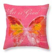 Butterfly Art - P11aig13a_ Art Is Good Throw Pillow by Variance Collections