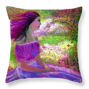 Butterfly Breezes Throw Pillow by Jane Small