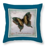 Butterfly Of Transformation Throw Pillow by Bobbee Rickard