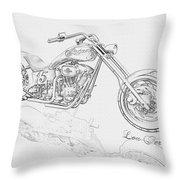 Bw Gator Motorcycle Throw Pillow by Louis Ferreira