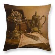 By The Note Paper Throw Pillow by Andreja Dujnic
