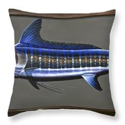 Cabo Stripes Throw Pillow by Johnny Widmer