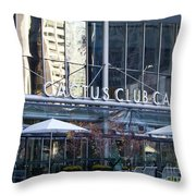 Cactus Club Cafe II Throw Pillow by Chris Dutton