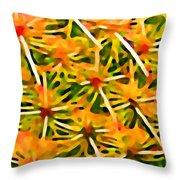 Cactus Pattern 2 Yellow Throw Pillow by Amy Vangsgard