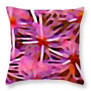 Cactus Pattern 3 Pink Throw Pillow by Amy Vangsgard