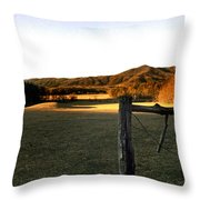 Cades Cove Throw Pillow by Skip Willits