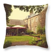 Cafe At The Palace. Edinburgh. Scotland Throw Pillow by Jenny Rainbow