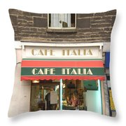 Cafe Italia Throw Pillow by Mike McGlothlen
