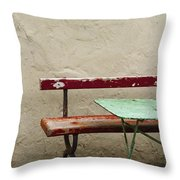 Cafeteria Throw Pillow by Margie Hurwich