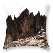 Cairn Throw Pillow by Aaron Spong
