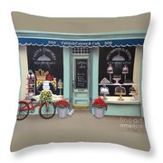 Caitlin's Cakery And Cafe Throw Pillow by Catherine Holman