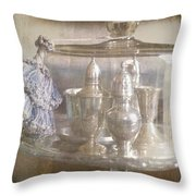 Cake Stand With Tassel Throw Pillow by Suzanne Powers