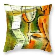 Calculation Throw Pillow by Leon Zernitsky