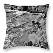 California Coast Throw Pillow by Benjamin Yeager