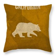 California State Facts Minimalist Movie Poster Art  Throw Pillow by Design Turnpike