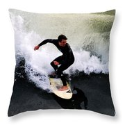 California Surfer Throw Pillow by Catherine Sherman