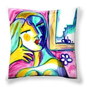 Call Me  Throw Pillow by Deborah jordan Sackett