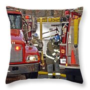 Call To Duty Throw Pillow by Susan Leggett