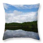 Calm Lake - Turbulent Sky Throw Pillow by Georgia Mizuleva