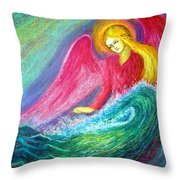 Calming Angel Throw Pillow by Jane Small