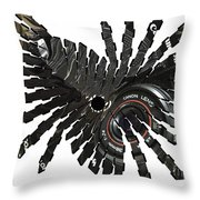Camera Bug Throw Pillow by Cheryl Young