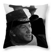 Cameron Mitchell The High Chaparral Throw Pillow by David Lee Guss
