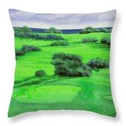 Campo Da Golf Throw Pillow by Guido Borelli